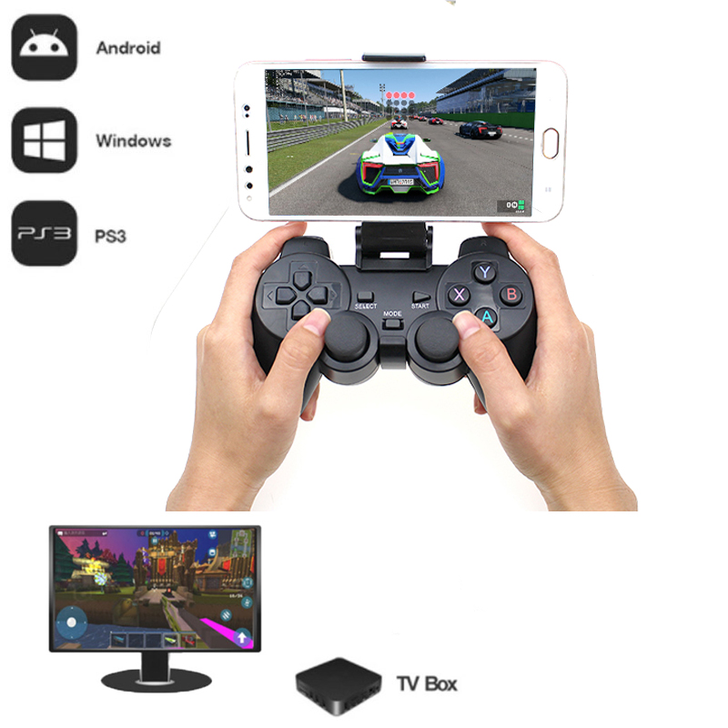 2 4G Wireless Gamepad For PS3 Android Phone TV Box PC Joystick For Xiaomi OTG Smart Phones Game Controller Remote Joypad