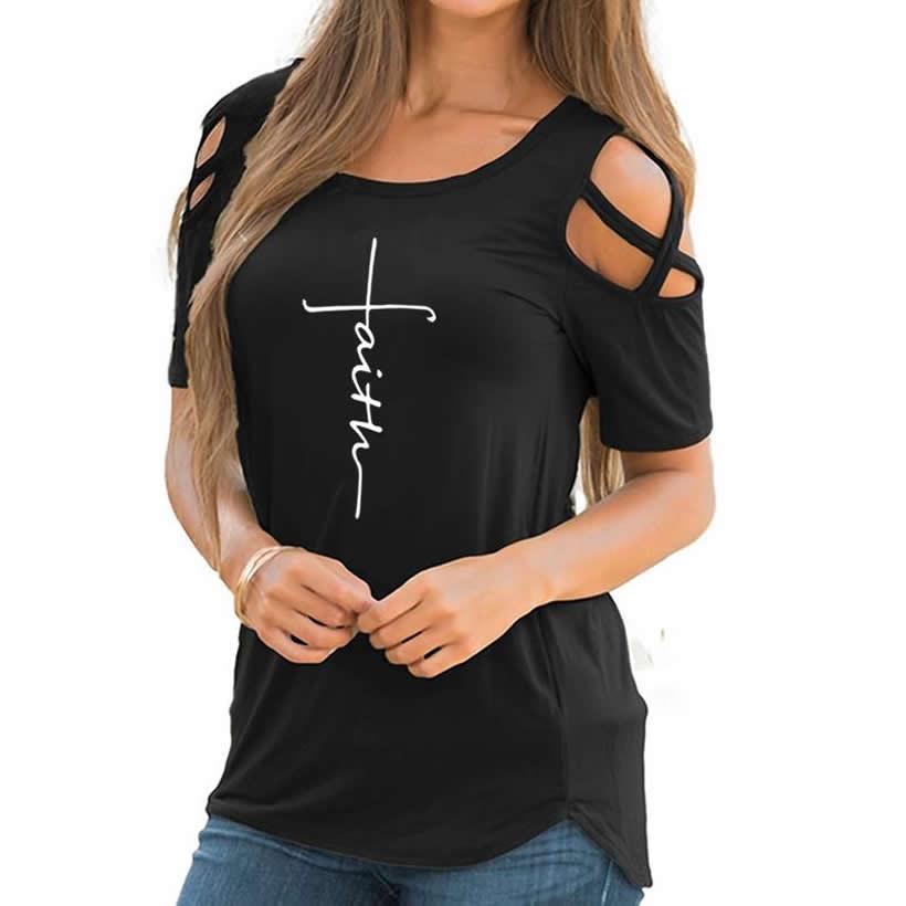 2018 sommer frauen Neue T-shirt frauen Europa Die Vereinigten Staaten Neue Mode Belief Druck Große Größe Harajuku Weibliche T-Shirt