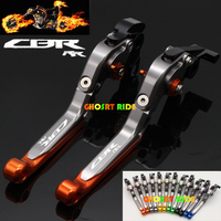 8 Colors Laser Logo (CBR RR) Black For Honda CBR1000RR/FIREBLADE 2004 2005 2006 2007 CNC Motorcycle Short Brake Clutch Levers