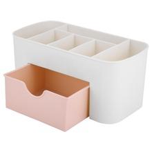 Plastikowe schowku makijaż Organizer Case szuflady kosmetyczne wyświetlacz Storage Organizer biuro Sundries tworzą pojemniki kontenerowe tanie tanio Pudełka do przechowywania pojemniki Nowoczesne Biżuteria Pudełko na biżuterię Schowek na szuflady 100 kg Z TOPINCN