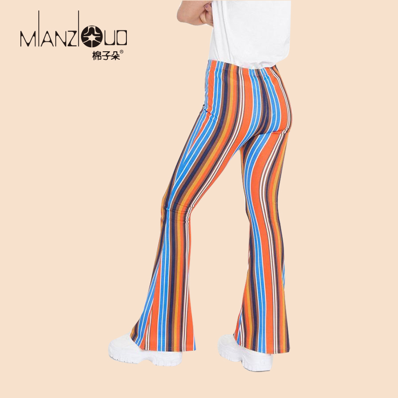 2019 New Design Plus Size High Waist Strength Elastic Wide Hips Flare Bell Bottom Woman Female Causal Leggings Streatwear S-2XL