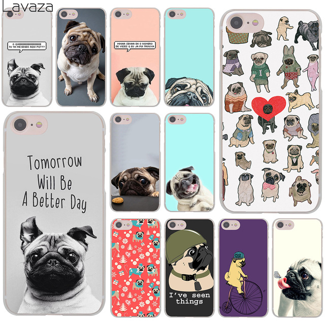 official photos 9f32a f9ad8 US $2.55 |Lavaza Pug seen things dog Ride butterfly Art Hard Cover Case for  iPhone X XS Max XR 6 6S 7 8 Plus 5 5S SE 5C 4S 10 Phone Cases-in ...