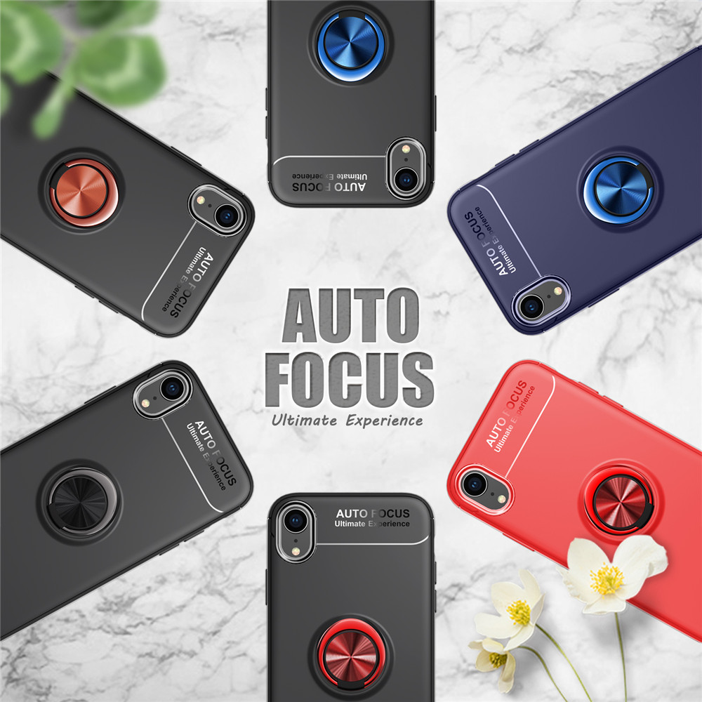 Magnetic Car Holder Case for iPhone XR Casing Lenuo Finger Ring All-in-one Cover sFor iPhone XR Case(China)