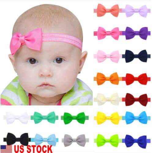 Yeni Bebek Çocuk Kız Sevimli Mini Saç Bow Bantlar Şerit Elastik Bant Şapkalar Aksesuarları