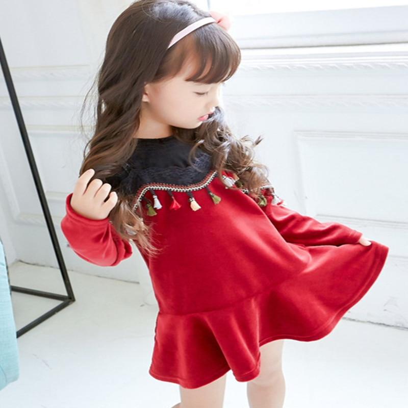 79ca8742a 2017 Autumn Girl Dress Cotton Long Sleeve Children Dress Striped ...