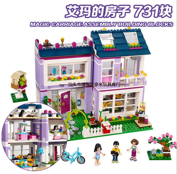 Bela 10541 Friends Emma's House mom Charlotte and dad Luis Building Blocks Bricks Toy Compatible With Friends 41095 цена и фото