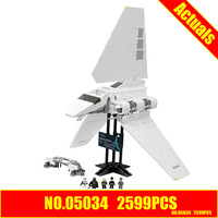ZXS New LEPIN 05034 2503Pcs Star Wars Imperial Shuttle Model Building Blocks Compatible 10212 Ship By
