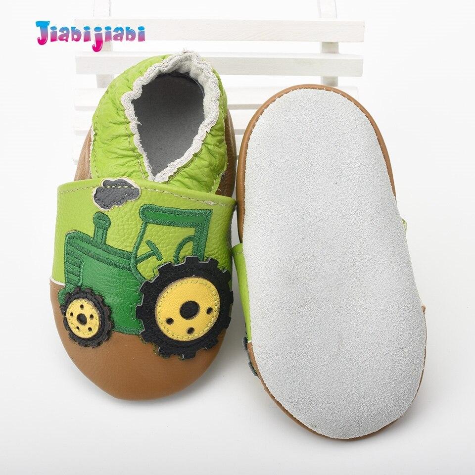 Nieuwe baby lederen schoenen jongen schattige trekker auto schoenen - Baby schoentjes - Foto 5