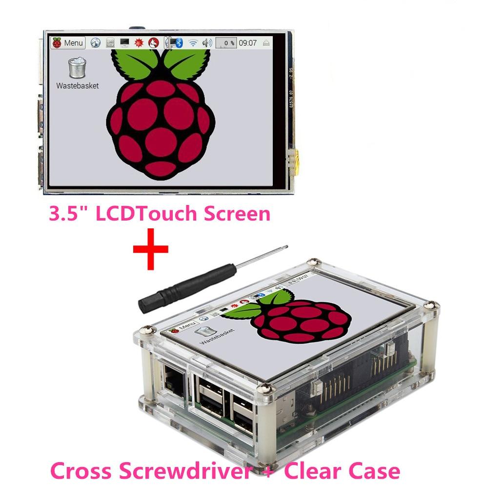 """Meilleur Prix D'origine 3.5 """"LCD TFT Tactile Écran D'affichage pour Raspberry Pi 2/Raspberry Pi 3 Modèle B Conseil + Acrylique Cas + Stylus"""
