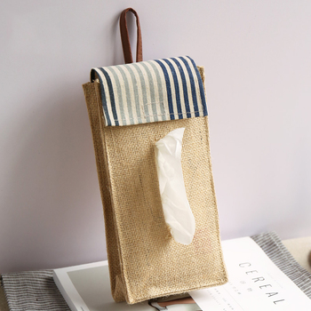 Kreatywna bawełniana i lniana torba do zawieszenia papierowy schowek na ręczniki Box Hotel strona główna ściana kuchenna gruzu papierowy ręcznik ozdobny pojemnik torby tanie i dobre opinie Torby do przechowywania Zaopatrzony Ekologiczne Składane Mieszkanie typ SQUARE Ubrania wiszące typu wiszące typu Tkaniny