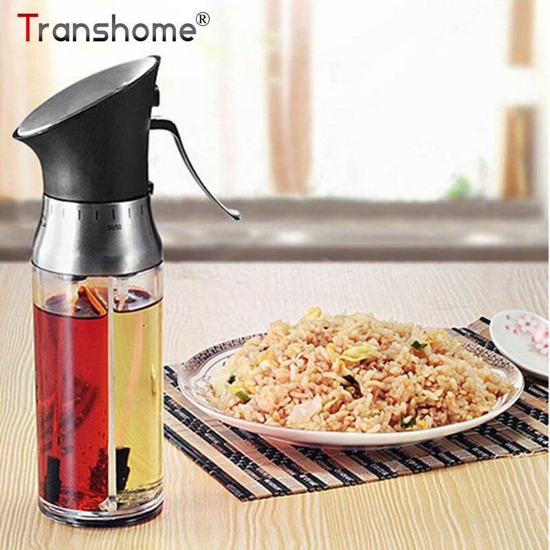 Transhome-in-1 Oliva Dispenser Olio Aceto Spruzzatore Spruzzatore Barbecue Flacone spray Nebbia Fine per BARBECUE Condimento Strumento Attrezzo della cucina