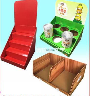 China Supplier Side Kick Cardboard Merchandising Displays Exhibition Cardboard Display Stands