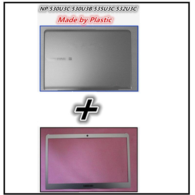 New LCD Back Cover Lid Cap Top Case Bezel Front Frame Housing For Samsung NP530U3C NP530U3B NP535U3C NP532U3X NP532U3C NP535U3B