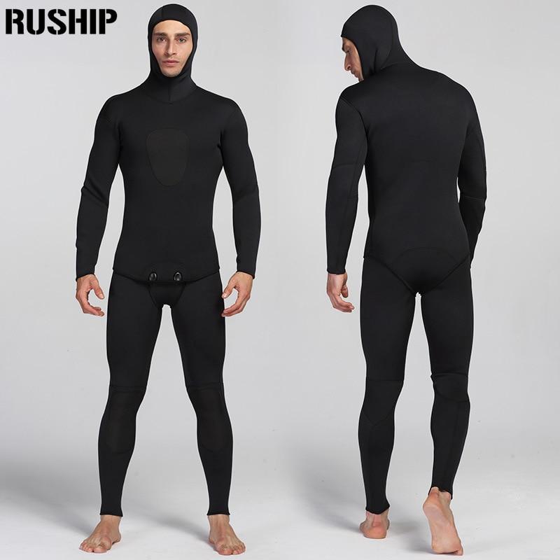 3mm Black Diving suit neoprene men pesca diving spearfishing wetsuit snorkel swimsuit Split Suits combinaison hat surf wetsuit все цены