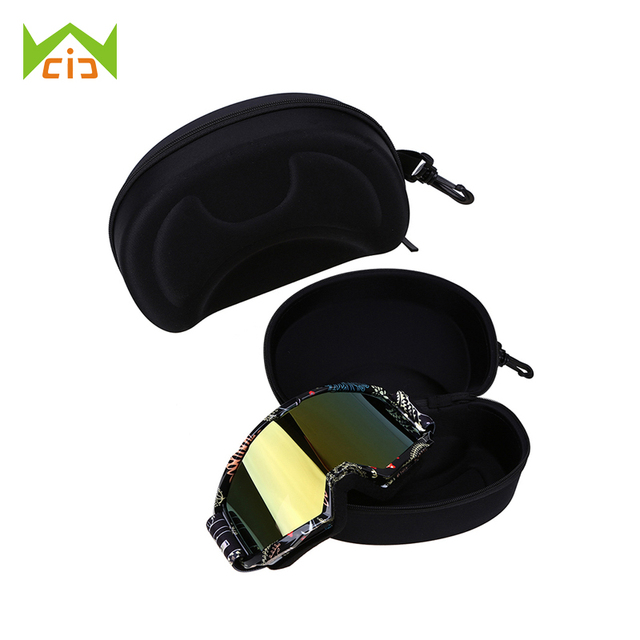 4ae9030de3e WCIC EVA Ski Goggle Protector Case Snowboard Glasses Box Sunglasses Zipper  Buckle Without Goggles Skiing Eyewear