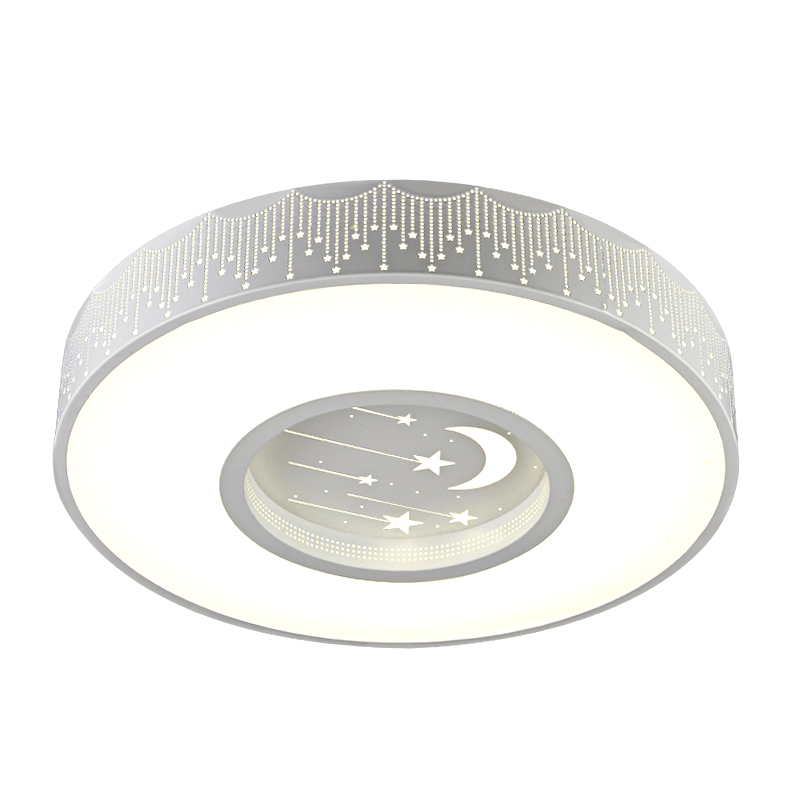 Simple Round led Children room star Ceiling lamps round Boy Girl Bedroom lamp Ceiling Lights