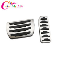 Color My Life Car Gas Fuel Pedal Brake Pedals Cover For Land Rover Freelander 2 2010