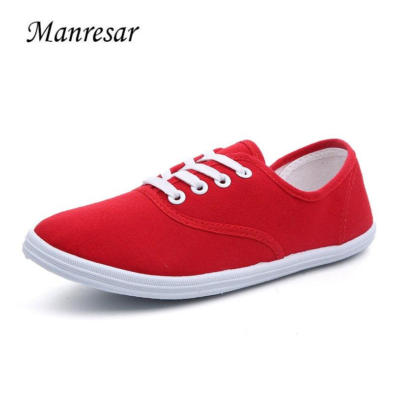 Manresar 2017 Women Flat Zapatos Mujer Flats Women Casual Cheap Canvas Shoes Fashion Women Walking Shoes Plus size 35-42