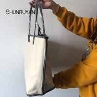 SHUNRUYAN 2019 New Women Bag Female Casual Tote Women Messenger Bag Set PU Bags Handbags Shoulder Bag yard