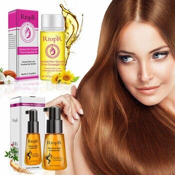 Rápido poderoso aceite esencial para el crecimiento del cabello efectivamente aumentar brillo del cabello nutritiva reparación para prevenir la pérdida de cabello pelo denso TSLM2