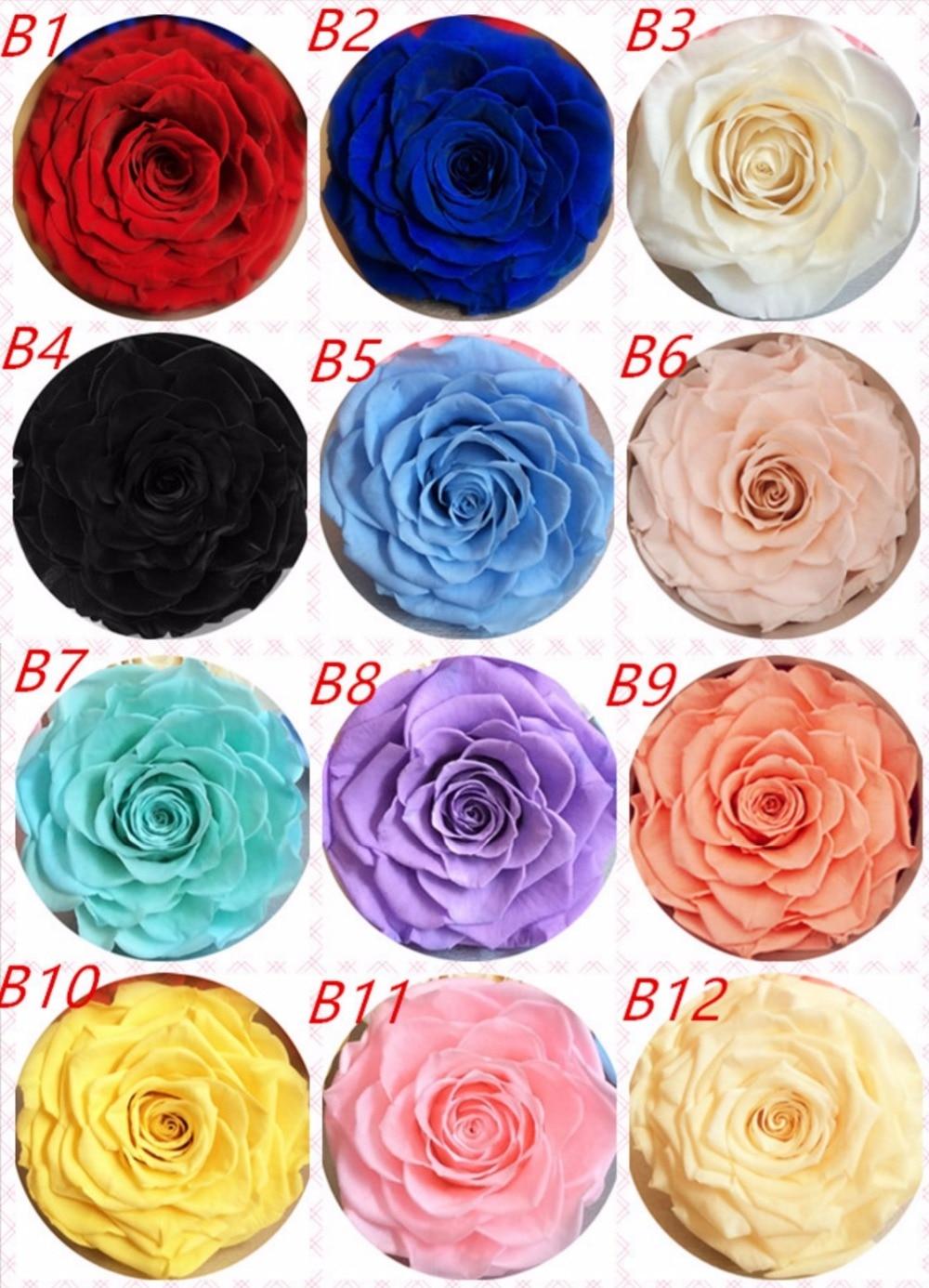 9-10cm păstrat Rose de trandafiri Bud Head pentru petrecerea nunții - Produse pentru sărbători și petreceri