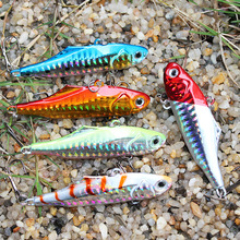 ANZHENJI 5 colors 24g 7.5cm winter VIB fishing lure hard bait lead inside ice sea fishing tackle diving swivel jig wobbler lure