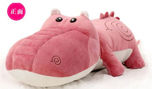 new lovely plush cartoon crocodile toy stuffed pink crocodile doll gift about 100cm