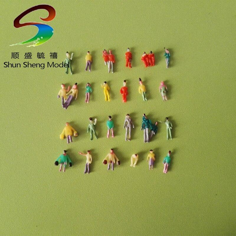 300 шт. HO Масштаб DIY игрушки Песчаный Таблица Модель поезда Park Street модели-цифры д ...
