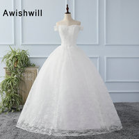 Elegant Vestidos De Novia 2018 Bride Wedding Dress Ball Gown Off Shoulder Princess Wedding Gowns Robe