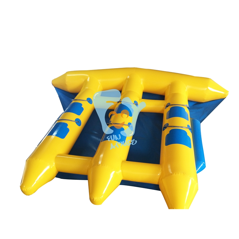 Double Inflatable Flying Fish Tube Towable Inflatable Flyfish Banana Boat Water Park Game single inflatable flying fish towable tube inflatable flyfish banana boat water fun toy