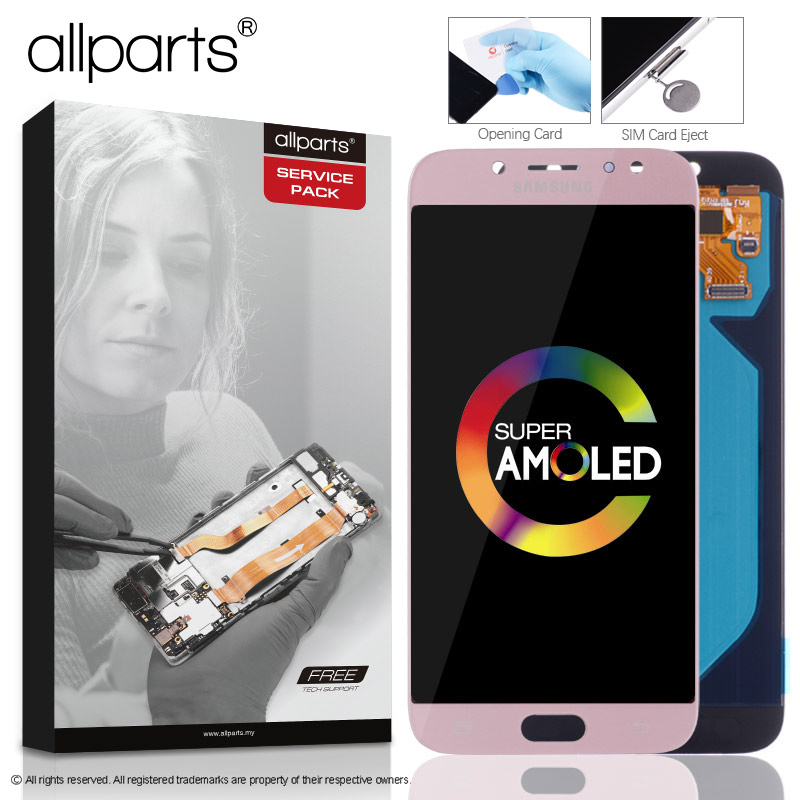 5.5'' AMOLED Оригинальный тачскрин дисплей экран для SAMSUNG Galaxy J7 Pro 2017 сенсорный дисплей Оригинал LCD с тачскрином в рамке замена запчасти J730 J730F Черн...