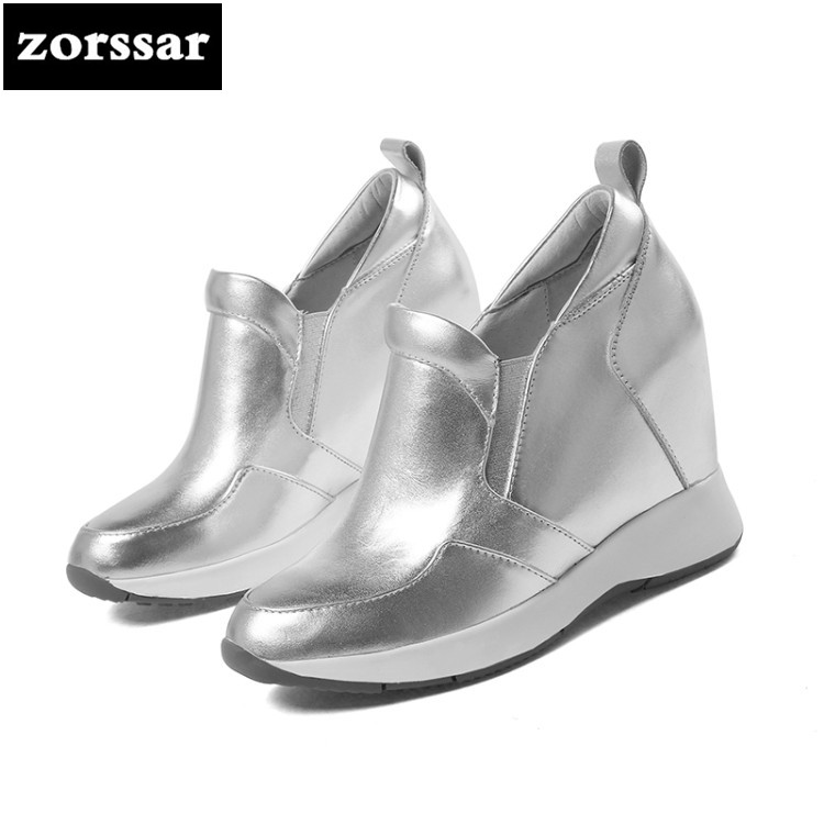 {Zorssar} Casual Women Shoes high heel pumps 2018 New Womens Wedges Height Increasing sneakers shoes Ladies Platform Shoes zorssar brand 2018 new womens creepers shoes heels casual wedges high heels pumps shoes fashion suede women platform shoes