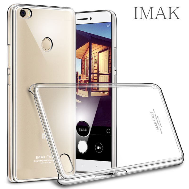 High Quality for Xiaomi Mi Max Phone Cases Hard Plastic Cover Original IMAK Ultra-Clear Transparent Crystal Shockproof Coque