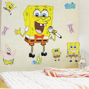 Free Shipping D Popular SpongeBob SquarePants Wall Sticker Wall - Spongebob wall decals