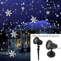 IP65 мобильный Снег Открытый Мини прожектор с эффектом снегопада лазерный проектор свет Рождество Снежинка Лазерная лампа для рождественско...
