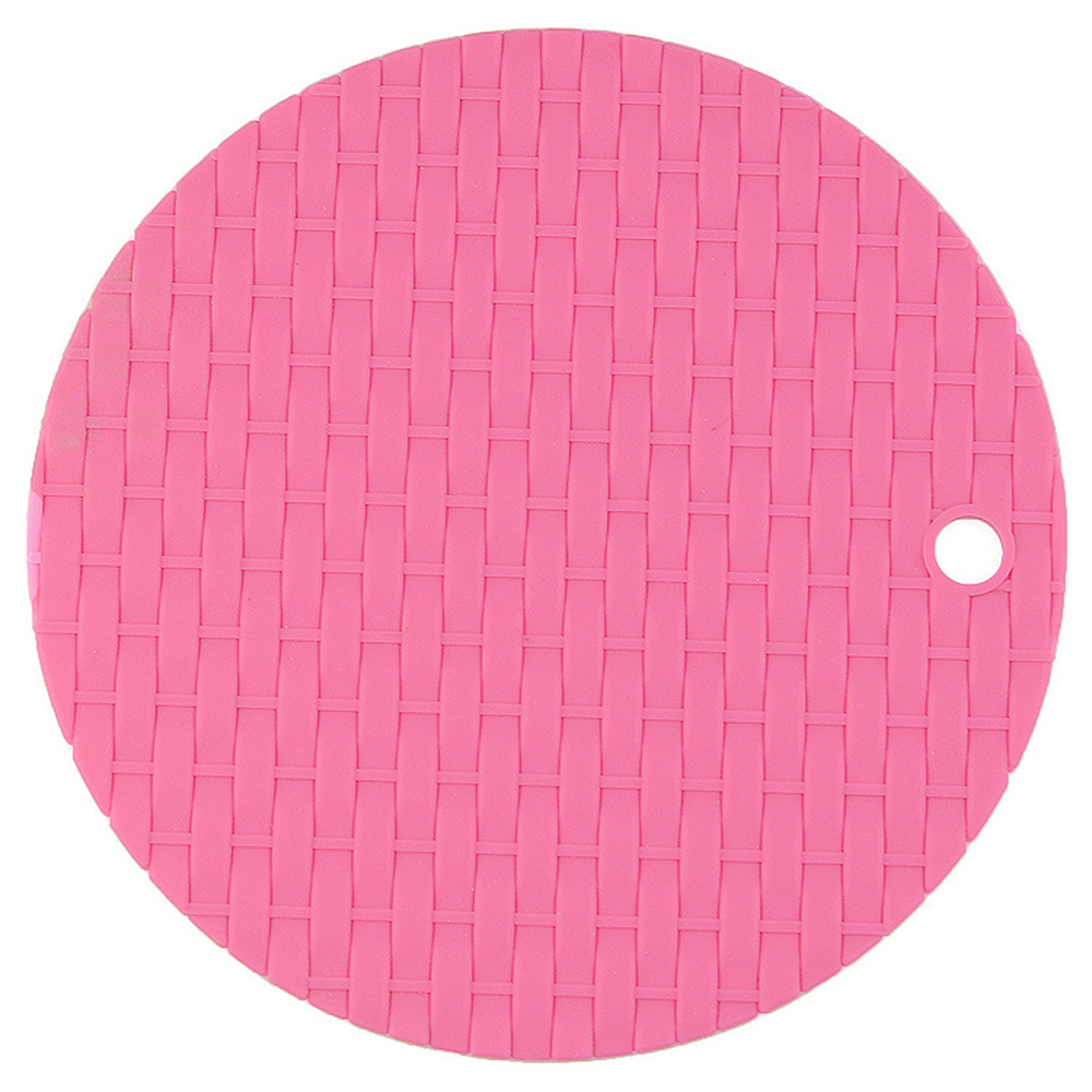 Knitted Circular Insulation Cushion Multi-functional Silicone Heat Resistant Pad Non-slip Kitchen Use Anti Ironing Casserole Mat