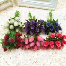 10 stücke Künstliche Glas Beeren Obst Rote Kirsche Kunststoff Früchte Für Zuhause Hochzeit Dekoration Gefälschte Erdbeere Mulberry Blume