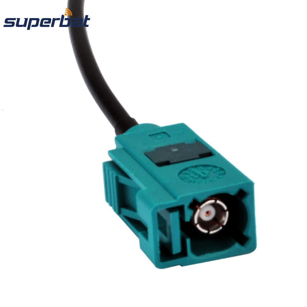 Superbat Fakra Z Straight Jack Female Connector For RG174 Custom Extension Antenna Cable Assembly For Wireless Neutral Coding