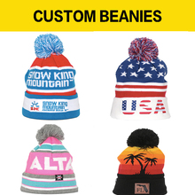 4dafa93f395 Custom Made knitted Beanie ski headwear skull beanie winter pom pom tuque  Jacquard Knitted logo for