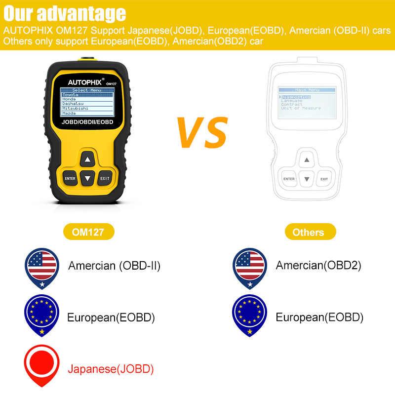 Autophix OM127 OBD2 Automotive Scanner ODB2 Diagnostic Tool OBDII EOBD JOBD  Code Reader with Russian Language OBDII Auto Scanner