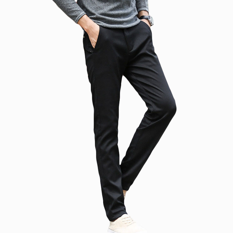 2017 high quality Mens Winter plus velvet thickening warm jeans male straight tretch Jeans fashion casual pencil pants ZL819