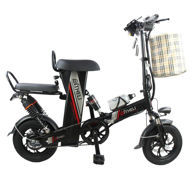 Мини-Электрический велосипед 12-дюймовый питания складной самокат для взрослых небольшой поколения привод Электрический велосипед литиева...