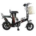 Электрический мини-велосипед 12-дюймовый Мощность складной скутер для взрослых небольшого поколения привод Электрический велосипедный лит...