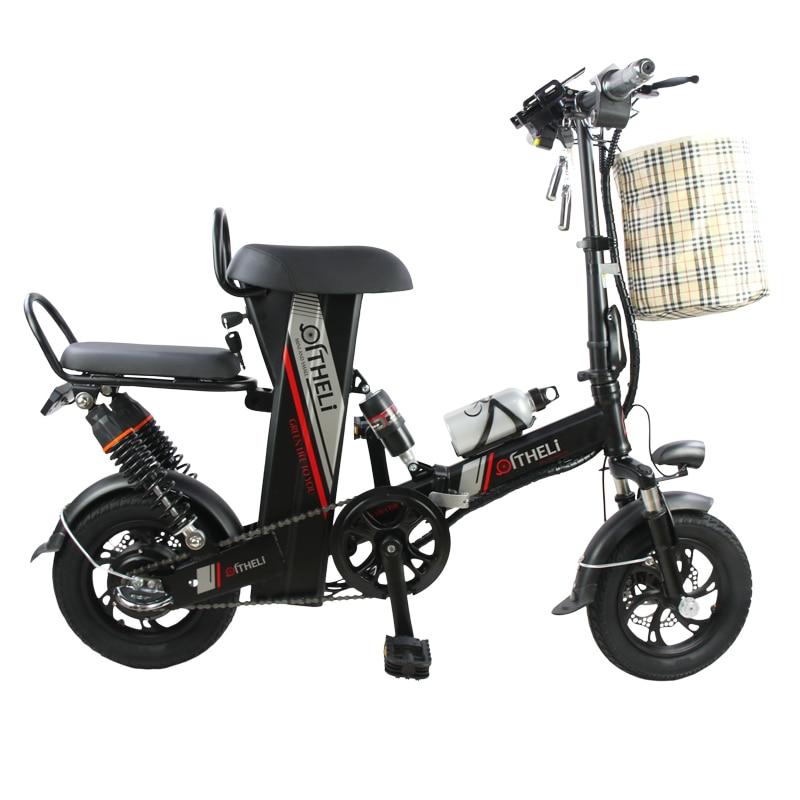 Mini électrique vélo 12-pouces puissance pliage scooter adulte petit génération entraînement vélo électrique batterie au lithium vélo électrique