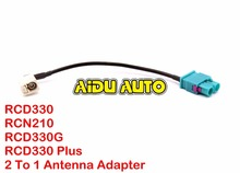 FOR VW Car Radio RCN210 MIB RCD510 FAKRA Antenna Adapter 2 To 1 MFD
