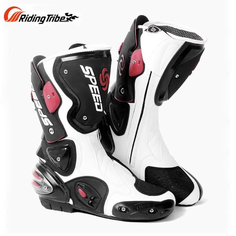 Motorcycle riding gear Boots Microfiber Leather Boot Motocross Profession Speed Racing Waterproof Motorbike Riding Moto Boots