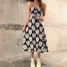 Women's Dress Sleeveless Long Maxi Dress Vintage Drawstring Print Loose Dresses Sundress Female Summer ornate print drawstring waist dress