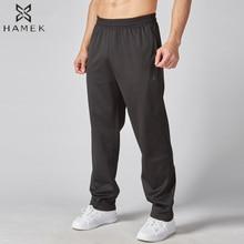 HAMEK, мужские свободные штаны для бега, тренировок, фитнеса, пешего туризма, тенниса, баскетбола, футбола, бега, спортивные штаны с карманами, футбольные штаны