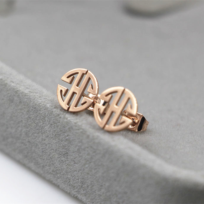Chinese style round word stud earings fashion 2016 new bijoux, ethnic earrings tibetan Stainless steel high quality Jewelry