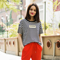 Veri Gude Women Striped Tees Short Sleeve T-Shirt for Summer Plus Size Loose Tops